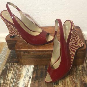 Via Spiga Patent Leather Wedge Size 10